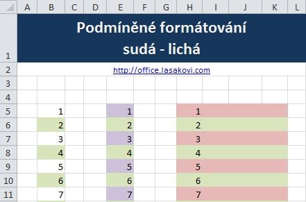 Podmínění formátování Excel