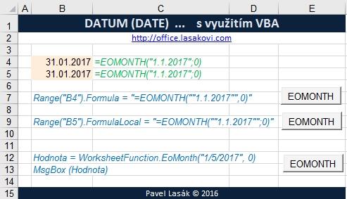 EOMONTH - poslední den v měsíci - Excel | Školení konzultace