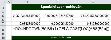 Jak na zaokrouhlování v Excel