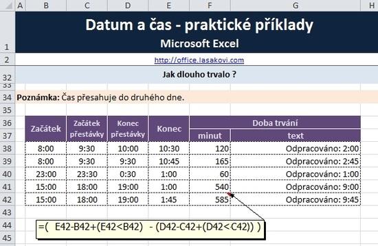 Excel Funkce Datum A čas Prakticky školení Konzultace