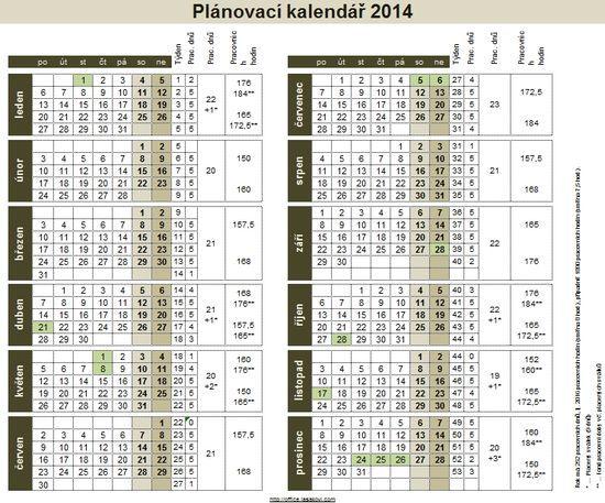 planovaci kalendar 2014 Plánovací kalendář 2014   ke stažení   Školení konzultace planovaci kalendar 2014