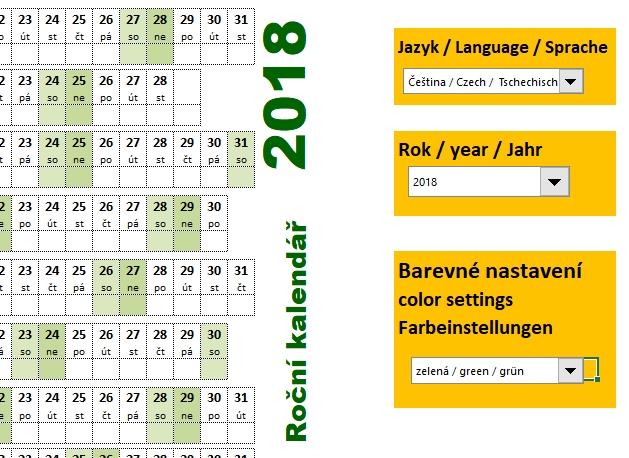 planovaci kalendar 2007 Roční kalendáře 2018   šablona Excel | Školení konzultace planovaci kalendar 2007