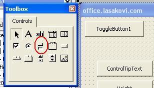 ToggleButton (Přepínací tlačítko) ve formuláři VBA | Školení