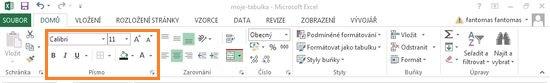 Microsoft Excel 2013 - karta domů