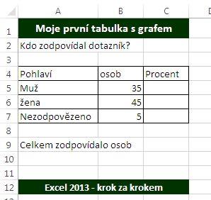 MS Excel 2013 - tabulka s formátováním.