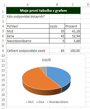 MS Excel 2013 - graf vložen
