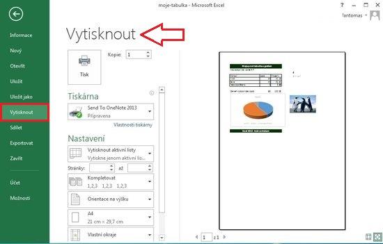 MS Excel 2013 - tisk