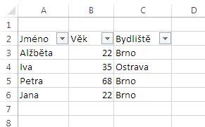 MS Excel 2013 - filtr hotov