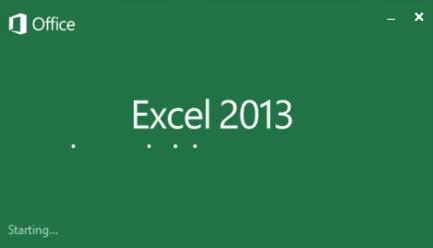 MS Excel 2013 - spuštění