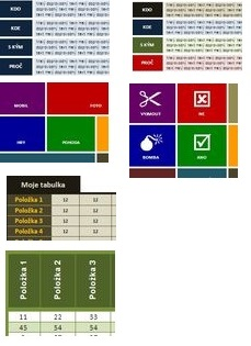 Ukázky netradičních tabulek - WORD