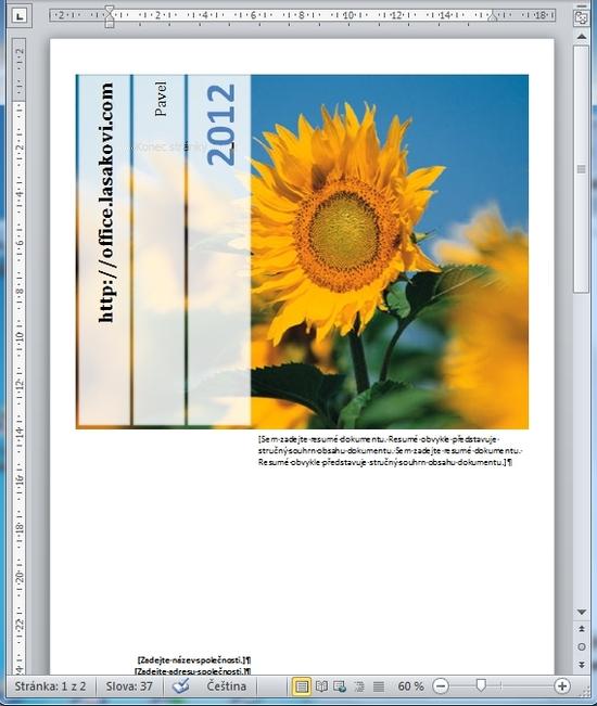 Titulní stránka - MS Word 2010 21a90cf33f