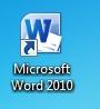 MS Word 2010 - ikona spuštění