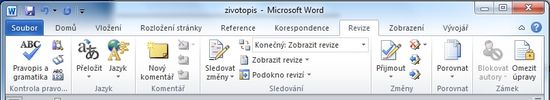 MS Word 2010 -